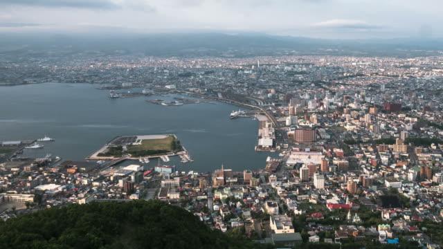 HD Day to Night Time-lapse: Hakodate, Hokkaido, Japan