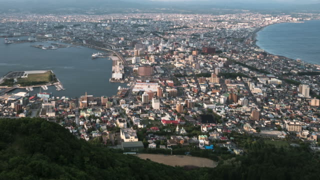 HD Day to Night Time-lapse: Hakodate, Hokkaido, Japan