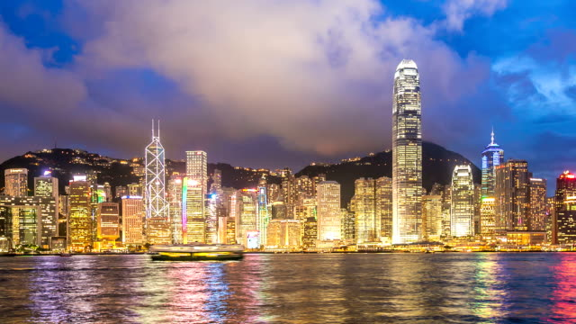 HD Day to Night Time-lapse: Hong Kong Victoria Harbour