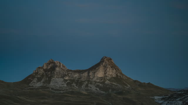 day to night timelapse of a mountain in durmitor national park - durmitor national park stock videos & royalty-free footage