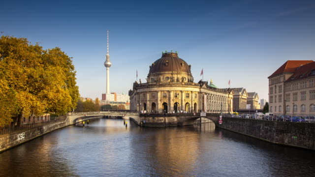 Day to Night Timelapse of Bode Museum, Museum Island, Berlin