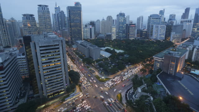 ws ha tl day to night timelapse of manila - traffic time lapse stock videos & royalty-free footage