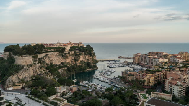 Day to Night Time-lapse: Rock of Monaco Fontvieille
