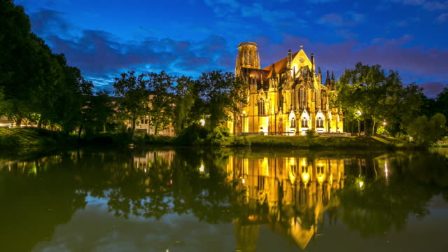 4K Day to night Time-lapse: St John's Cathedral Stuttgart, Germany