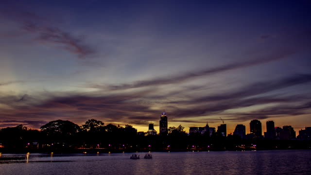 Day to night: timelapse Sunset park
