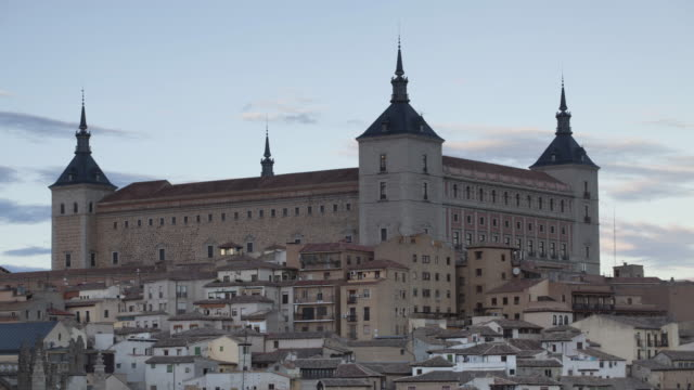 day to night tl of the alcazar of toledo, spain. - philip ii of spain stock videos and b-roll footage