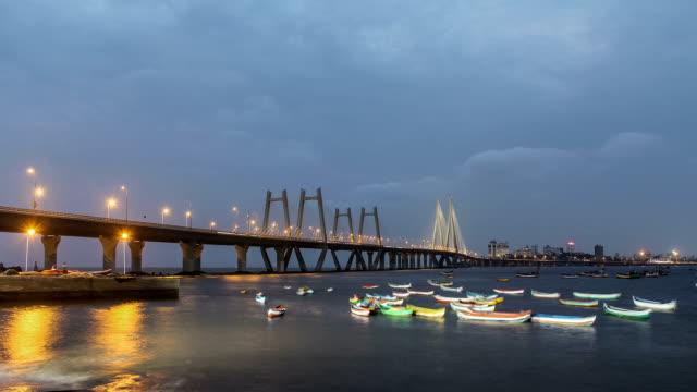 Day to night transition - Mumbai Sea link