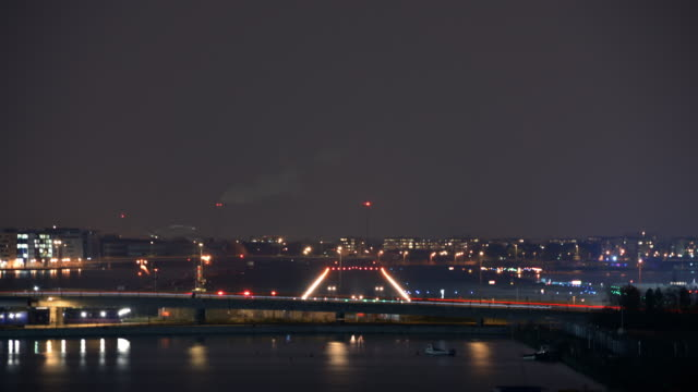 day to night transition of aircraft landing and taking off from london - taxiing stock videos & royalty-free footage
