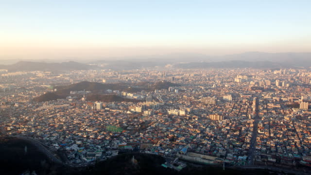 day to night view of daegu city and woobang tower (83 tower) - daegu stock videos and b-roll footage