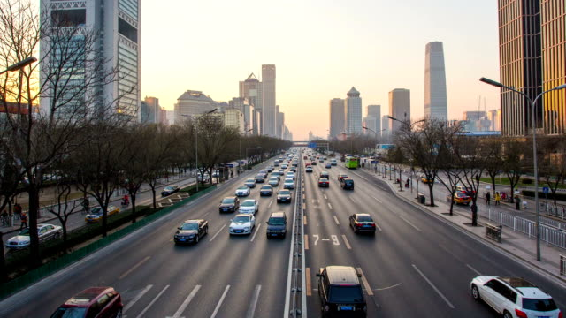 t/l day to night zoom out on traffic on beijing road. - orthographic symbol stock videos and b-roll footage