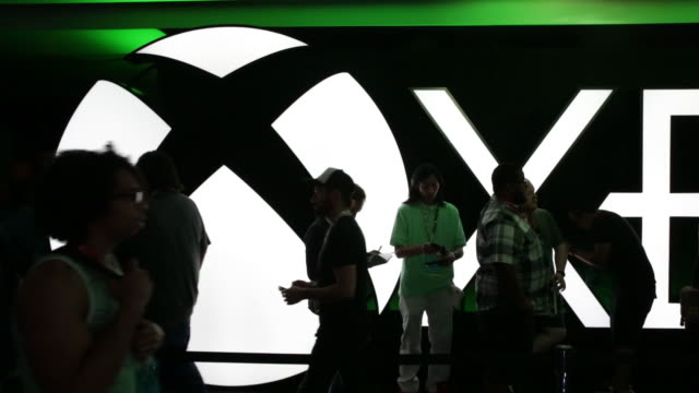 e3 day two video game expo in los angeles california us on wednesday june 13 2018 - xbox stock videos & royalty-free footage