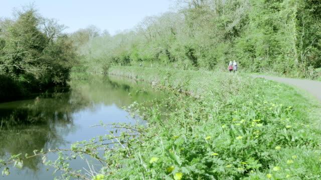 day walking in spring - river lagan stock videos & royalty-free footage