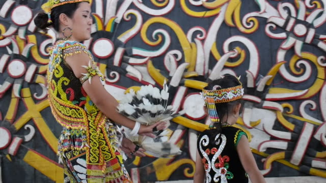 dayak deah tribe borneo kalimantan. - dayak stock videos and b-roll footage
