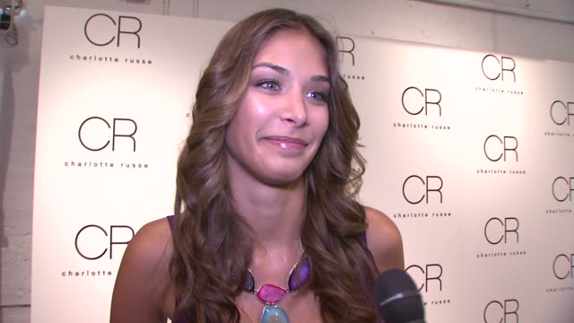 dayana mendoza on being miss universe, how she's always traveling, and working with hiv projects. on charlotte russe's new fall line and what she's... - retrovirus video stock e b–roll