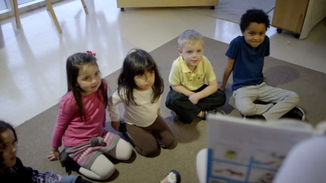 daycare storytelling - preschool student stock videos and b-roll footage