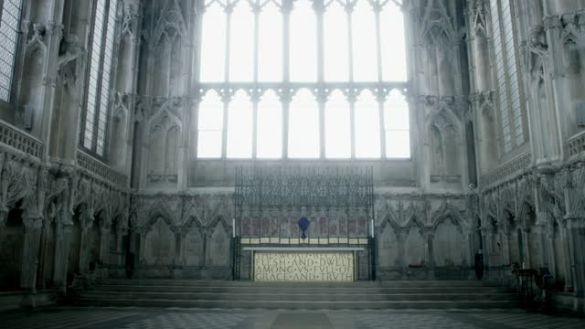 daylight floods into ely cathedral - stone object stock videos & royalty-free footage