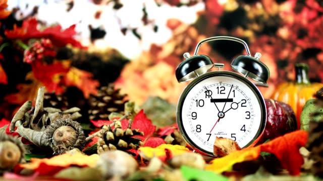 Daylight savings time.  2 o'clock time on clock in autumn season.