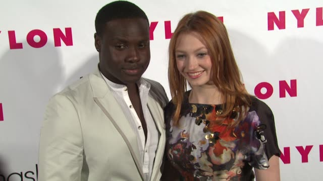 Dayo Okeniyi Jacqueline Emerson at NYLON 13th Anniversary Issue Celebration on 4/10/12 in West Hollywood CA