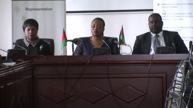 days after the malawi constitutional court ordered fresh presidential election parliament has moved to scrutinize the competencies of commissioners... - chairperson stock videos & royalty-free footage