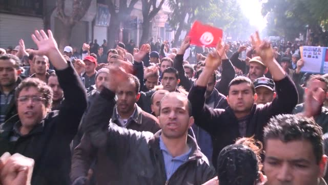 days after tunisia's ben ali regime fell following mass protests much of the arab world is looking on nervously as strongmen around the region ponder... - revolution stock videos & royalty-free footage