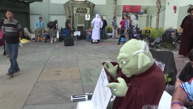 9 days before its US release Star Wars fans have started to line up in front of Hollywood's Chinese theater despite having already bought their...