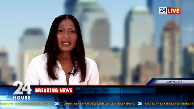 vídeos de stock e filmes b-roll de hd: dia de negócio de notícias - parede de vídeo