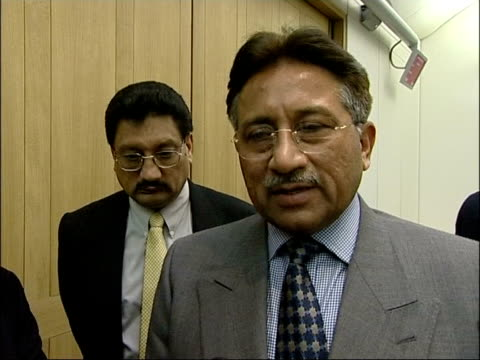 day's main events itn england london int general pervez musharraf interviewed sot it's dependent on achievement of objectives one can't translate... - nuclear fallout stock videos and b-roll footage