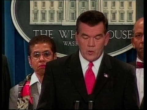 day's main events pool the white house tom ridge at press conference podium and speaking sot we are still undergoing final tests to determine if... - reuters stock videos & royalty-free footage