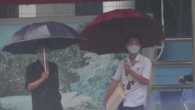 stockvideo's en b-roll-footage met days of heavy rain could cause flooding or landslides across north korea officials have warned this week - {{asset.href}}