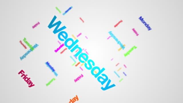 vídeos y material grabado en eventos de stock de días de la semana, gráfico - domingo