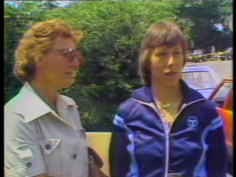 day-shot, static-shot, mcu, sot: martina navratilova is seen standing next to mother jana navratilova, and speaks about her mother's arrival in... - healthcare and medicine or illness or food and drink or fitness or exercise or wellbeing stock videos & royalty-free footage