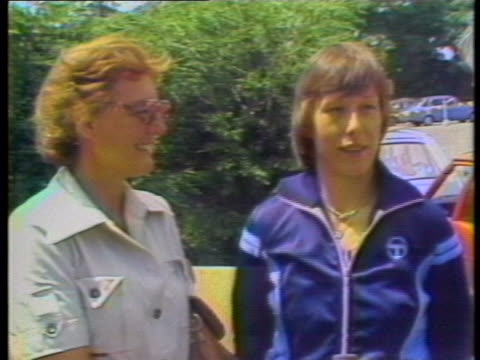 "day-shot, static-shot, mcu, sot: martina navratilova is seen standing next to mother jana navratilova, and describes an emotional moment:""i started... - healthcare and medicine or illness or food and drink or fitness or exercise or wellbeing stock videos & royalty-free footage"
