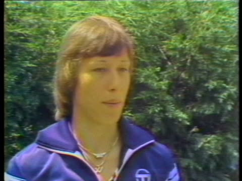 day-shot, static-shot, mcu, sot: martina navratilova speaks about her mother's arrival in london to watch her compete in the 1979 wimbledon tennis... - healthcare and medicine or illness or food and drink or fitness or exercise or wellbeing stock videos & royalty-free footage