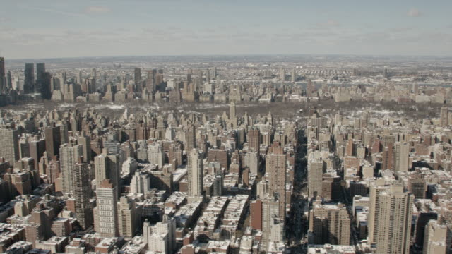 Daytime Aerial View Of Midtown Manhattan And Central Park