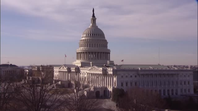 Daytime shot of the United States Capitol building the morning after President Donald Trump delivered his first State of the Union address to a Joint...