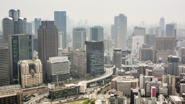 Daytime time lapse footage of Osaka