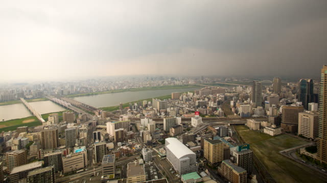 Daytime time lapse footage of Osaka
