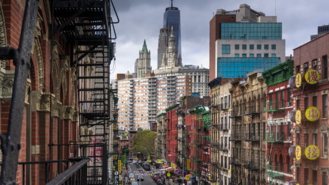 Daytime View of Chinatown, NYC - Time Lapse