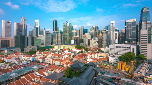 Daytime Wide Overview Timelapse of Singapore, Singapore