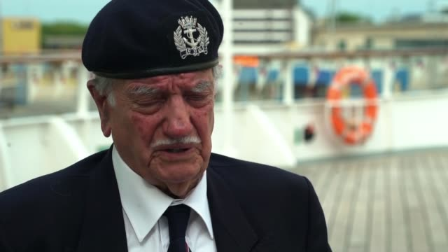 Flotilla carrying veterans to repeat fateful journey made by troops during the war ENGLAND Portsmouth EXT Arnie Salter interview SOT
