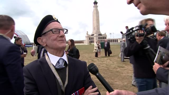 memories of veterans england hampshire portsmouth ext corporal jim healy interview sot - war veteran stock videos & royalty-free footage