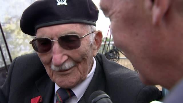 memories of veterans england hampshire portsmouth ext sergeant john jenkins setup shot / interview sot - war veteran stock videos & royalty-free footage