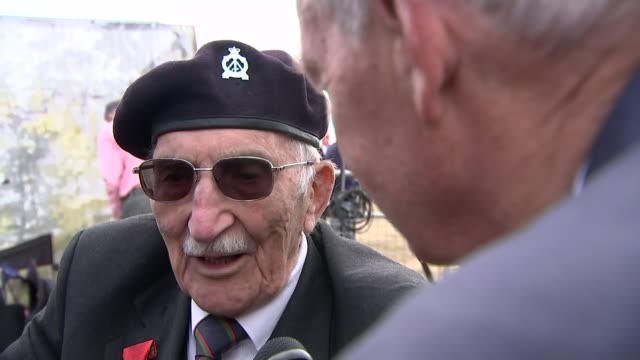 memories of veterans england hampshire portsmouth ext sergeant john jenkins interview sot - sergeant stock videos & royalty-free footage