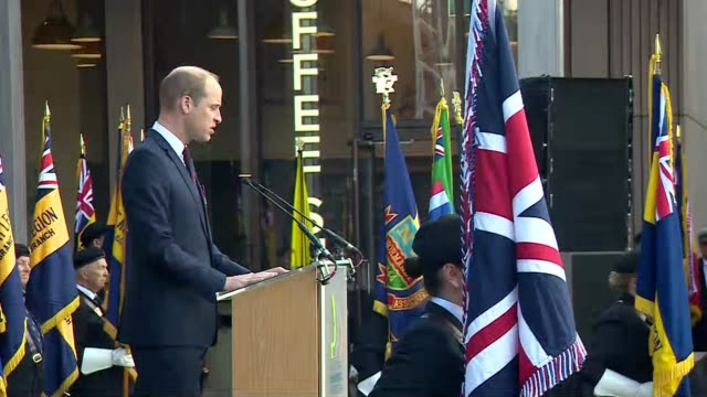 national memorial arboretum in staffordshire holds service england staffordshire national arboretum ext prince william duke of cambridge speech sot... - prince stock videos and b-roll footage