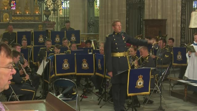 prince charles the duchess of cornwall and senior british politicians attend bayeux cathedral service france normandy bayeux bayeux cathedral band... - prince stock videos and b-roll footage