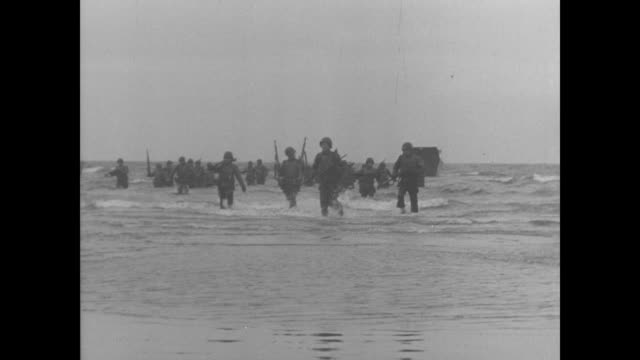 day allied soldiers train off the coast of england in advance of normandy invasion - d day stock videos & royalty-free footage