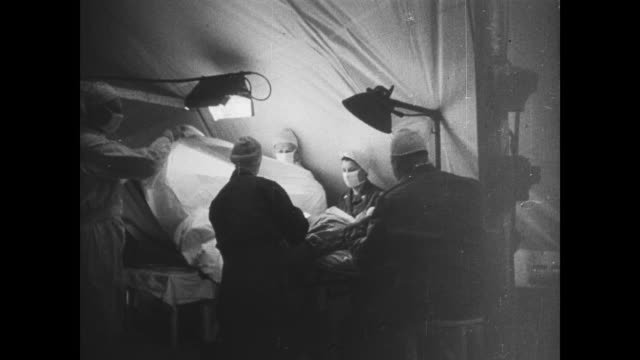 vidéos et rushes de day - field hospitals in england tend to wounded allied soldiers returning from normandy - seconde guerre mondiale