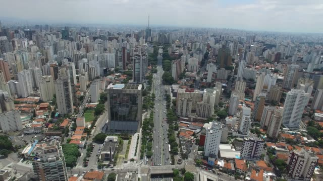 23 de maio - aerial view of sao paulo, brazil - antenna aerial stock videos & royalty-free footage