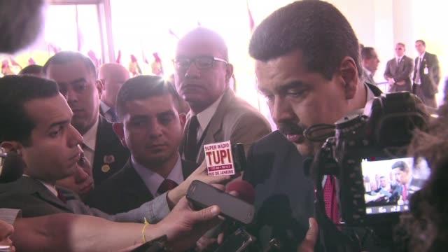 vídeos y material grabado en eventos de stock de de visita para la posesion de dilma rousseff el presidente de venezuela nicolas maduro se reunio con su par brasilena y con el vicepresidente... - ee.uu