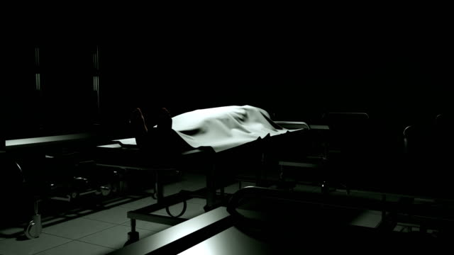 dead body in morgue on steel table. - autopsy stock videos & royalty-free footage
